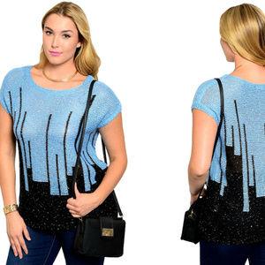 Women's Sweater Scoop Neck Plus Size 1XL, 2XL